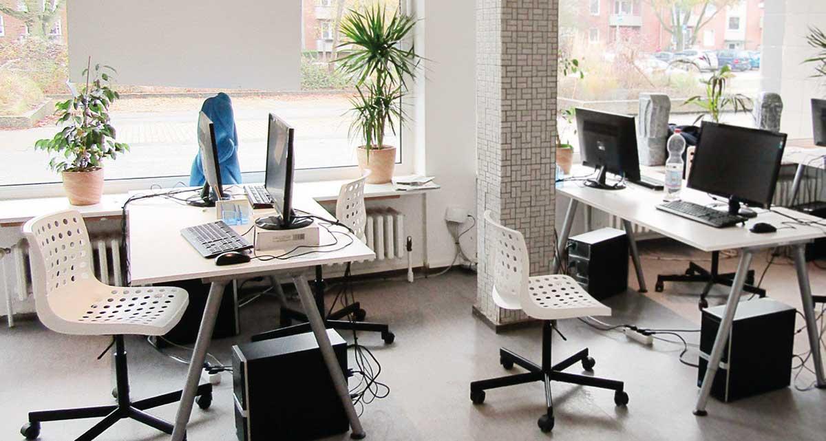 Unser Redaktionsraum am Klaus-Exner-Platz